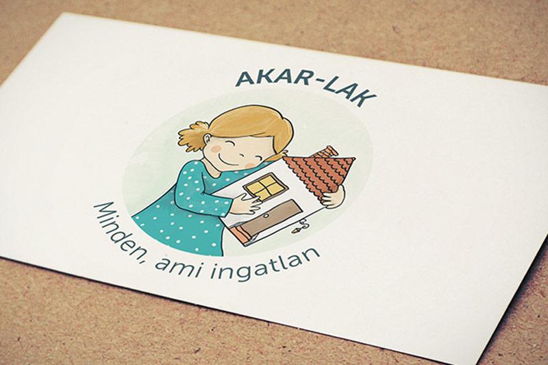 Akar-Lak - Minden, ami ingatlan logóterv