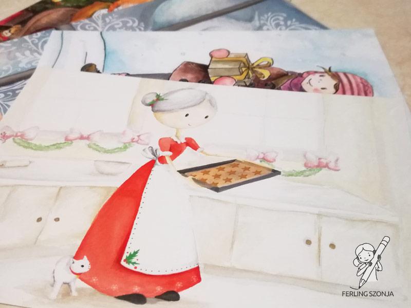 Részlet a karácsonyi képeslapokból
