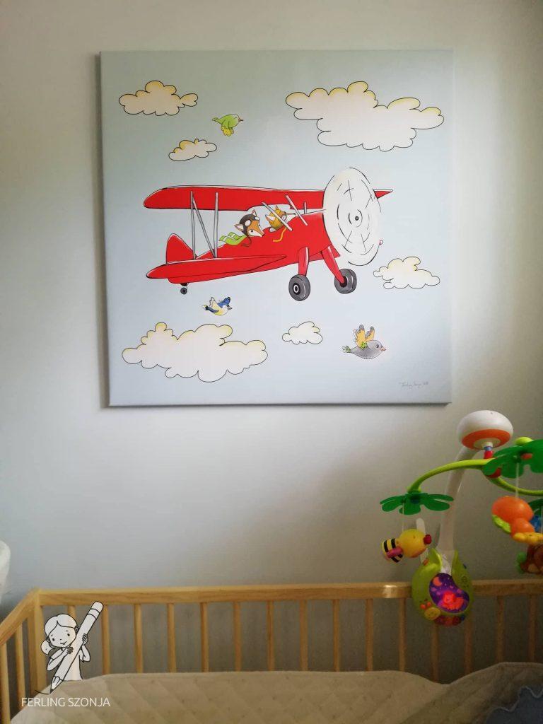 Repülős kép a gyerekszobába - Fotó: Halász Tímea